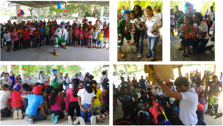 Alcogal celebrates Three King's Day with the children from the community El Limón