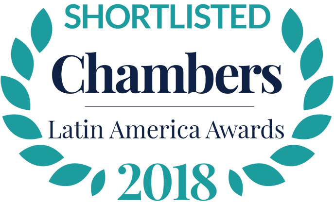 Alcogal is nominated as Law Firm of the Year for Chambers Latin America Awards 2018