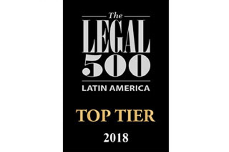 Alcogal is recognized in The Legal 500 Latin America 2018