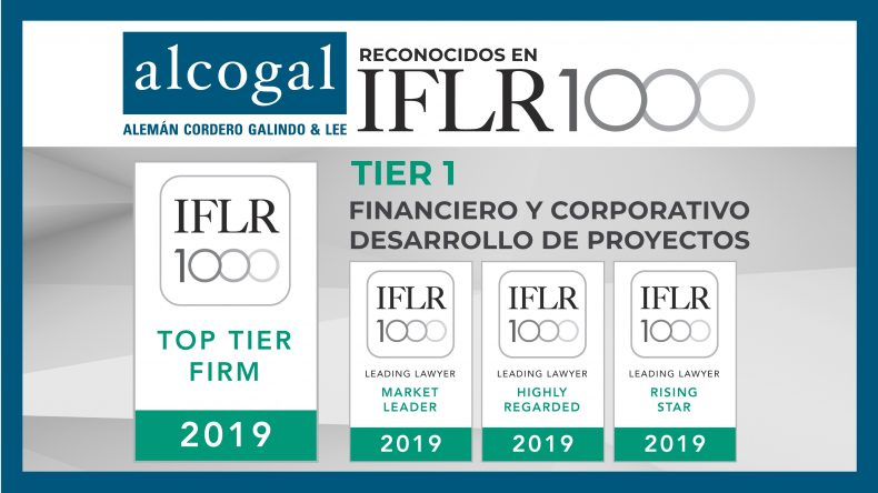 Alcogal lawyers are recognized in IFLR1000