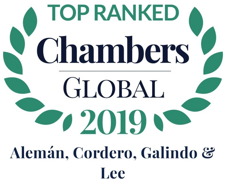 Alcogal is recognized as a leading law firm by Chambers Global
