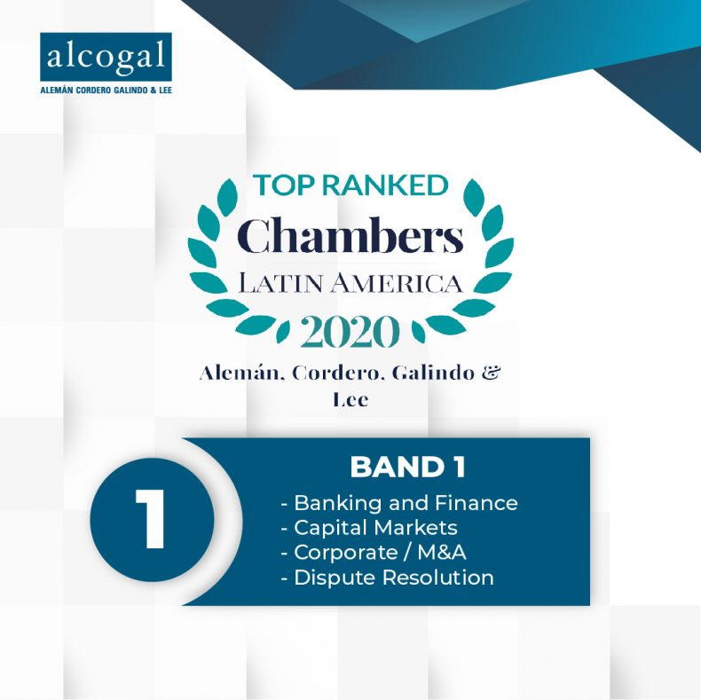 Alcogal receives top ranking in Chambers Latin America 2020