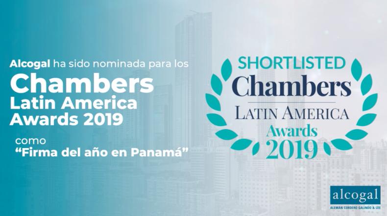 """Alcogal ha sido nominada para los Chambers Latin America Awards 2019 como """"Firma del Año en Panamá"""""""