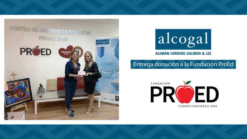 Alcogal delivers donation to the ProEd Foundation