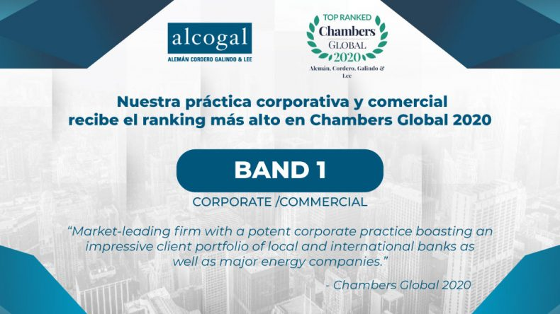 Alcogal receives the highest ranking in Chambers Global 2020