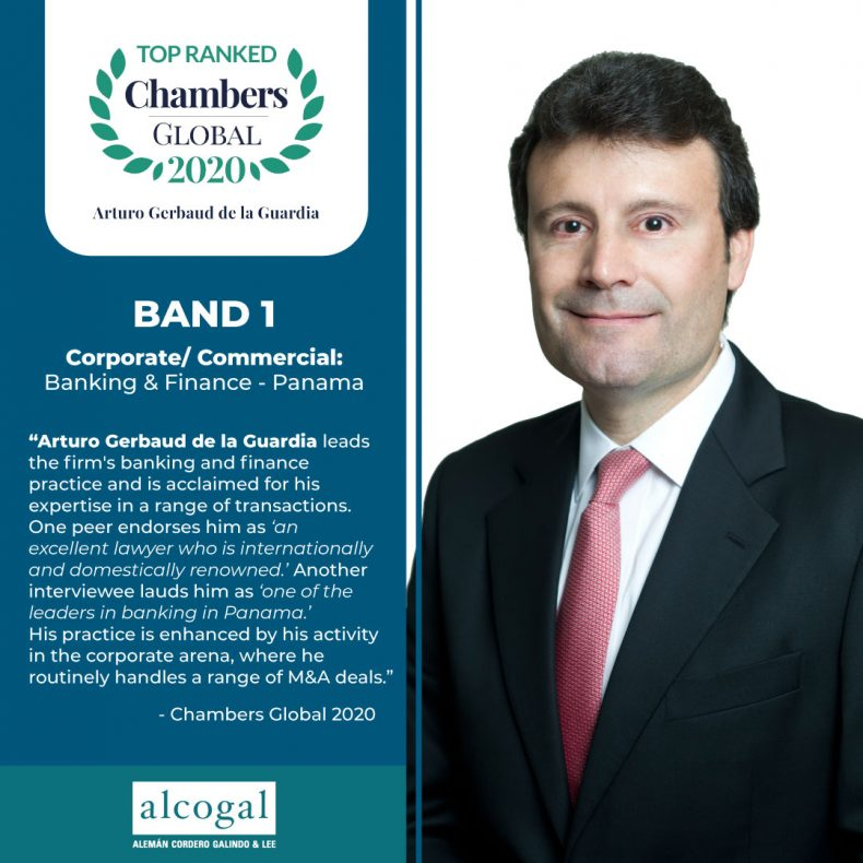 Partner Arturo Gerbaud earns a Band 1 ranking in Chambers Global 2020