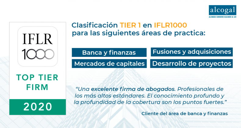 Alcogal receives top-tier rankings in IFLR1000 with Tier 1 spots in all categories