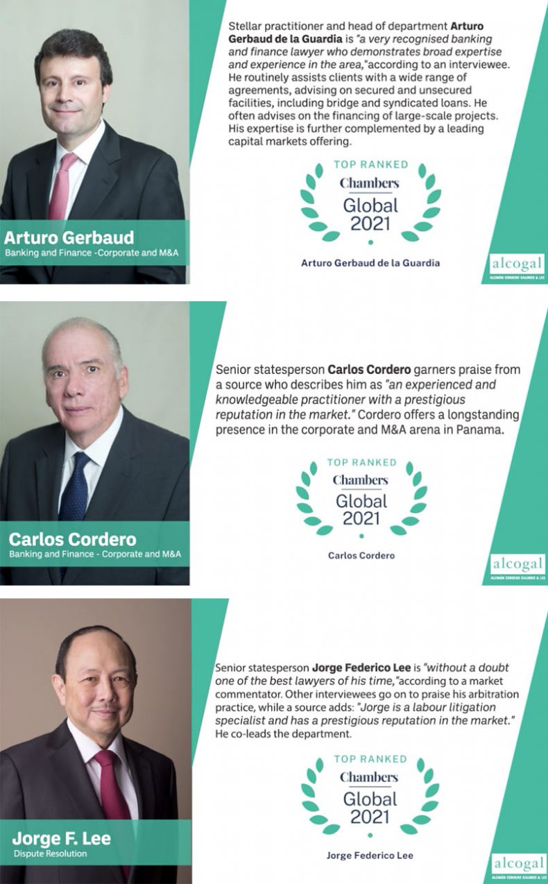 Alcogal partners are recognized by Chambers Global 2021