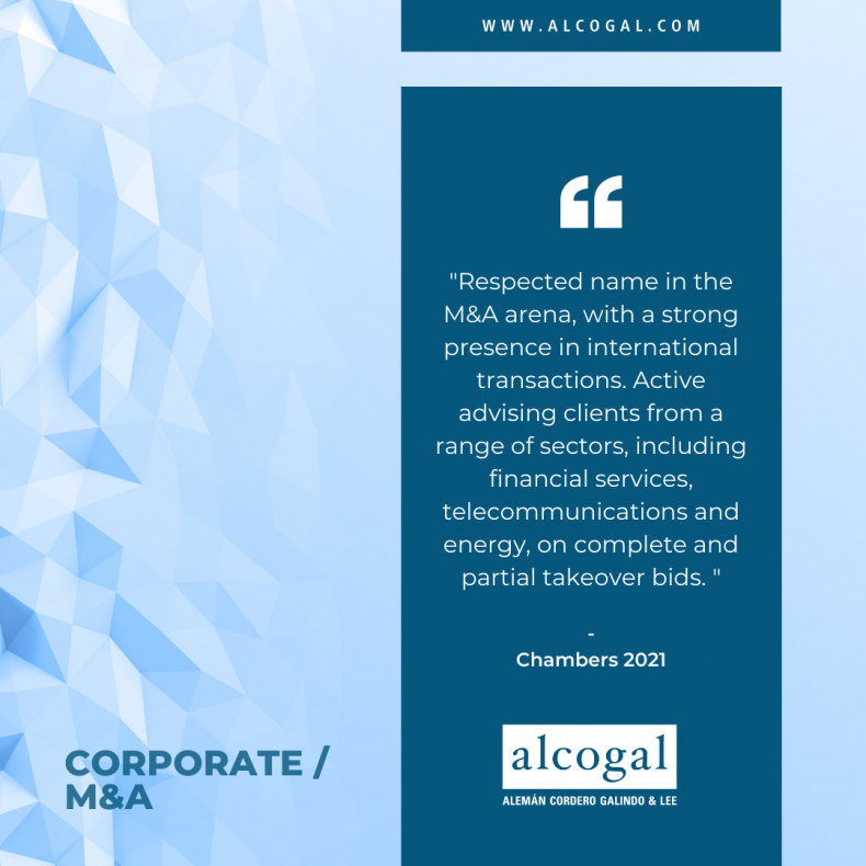 Corporate / M&A team at Alcogal